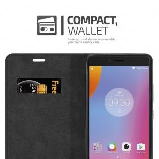 Cadorabo Hülle für Lenovo K6 NOTE in APFEL ROT Handyhülle mit Magnetverschluss, Standfunktion und Kartenfach Case Cover Schutzhülle Etui Tasche Book Klapp Style - Vorschau 5