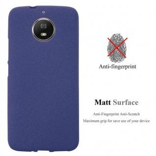 Cadorabo Hülle für Motorola MOTO G5s in FROST DUNKEL BLAU - Handyhülle aus flexiblem TPU Silikon - Silikonhülle Schutzhülle Ultra Slim Soft Back Cover Case Bumper - Vorschau 2