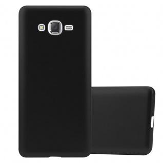 Cadorabo Hülle für Samsung Galaxy J7 2015 in METALLIC SCHWARZ - Handyhülle aus flexiblem TPU Silikon - Silikonhülle Schutzhülle Ultra Slim Soft Back Cover Case Bumper