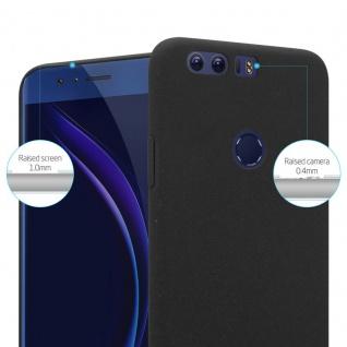 Cadorabo Hülle für Honor 8 in FROSTY SCHWARZ - Hardcase Handyhülle aus Plastik gegen Kratzer und Stöße - Schutzhülle Bumper Ultra Slim Back Case Hard Cover - Vorschau 2