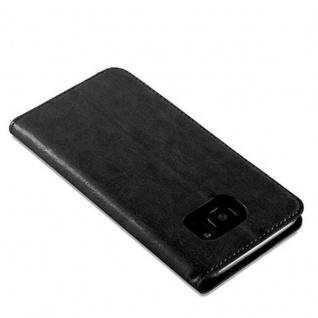 Cadorabo Hülle für Samsung Galaxy S7 EDGE in NACHT SCHWARZ - Handyhülle mit Magnetverschluss, Standfunktion und Kartenfach - Case Cover Schutzhülle Etui Tasche Book Klapp Style - Vorschau 5