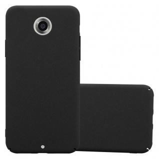 Cadorabo Hülle für Motorola NEXUS 6 in FROSTY SCHWARZ - Hardcase Handyhülle aus Plastik gegen Kratzer und Stöße - Schutzhülle Bumper Ultra Slim Back Case Hard Cover