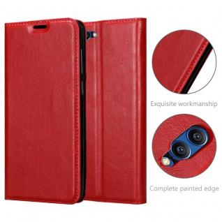 Cadorabo Hülle für Honor 10 VIEW in APFEL ROT - Handyhülle mit Magnetverschluss, Standfunktion und Kartenfach - Case Cover Schutzhülle Etui Tasche Book Klapp Style - Vorschau 5