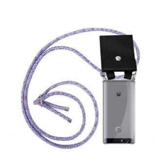 Cadorabo Handy Kette für Huawei NOVA in UNICORN - Silikon Necklace Umhänge Hülle mit Silber Ringen, Kordel Band Schnur und abnehmbarem Etui - Schutzhülle