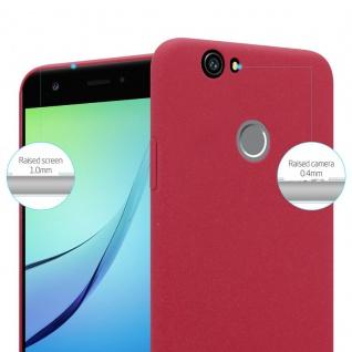 Cadorabo Hülle für Huawei Nova in FROSTY ROT - Hardcase Handyhülle aus Plastik gegen Kratzer und Stöße - Schutzhülle Bumper Ultra Slim Back Case Hard Cover - Vorschau 2