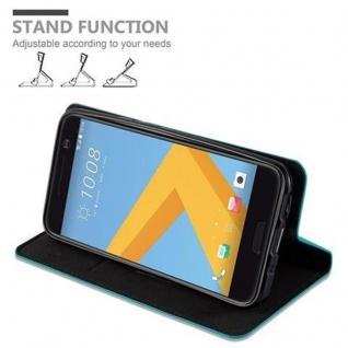 Cadorabo Hülle für HTC 10 (One M10) in PETROL TÜRKIS - Handyhülle mit Magnetverschluss, Standfunktion und Kartenfach - Case Cover Schutzhülle Etui Tasche Book Klapp Style - Vorschau 5