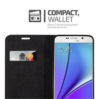 Cadorabo Hülle für Samsung Galaxy NOTE 5 in CAPPUCCINO BRAUN - Handyhülle mit Magnetverschluss, Standfunktion und Kartenfach - Case Cover Schutzhülle Etui Tasche Book Klapp Style - Vorschau 2
