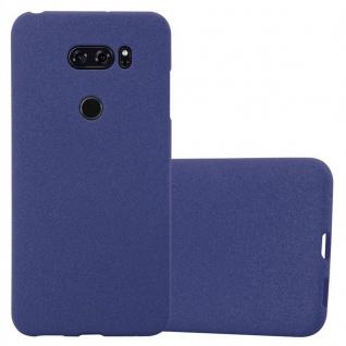 Cadorabo Hülle für LG V30 in FROST DUNKEL BLAU Handyhülle aus flexiblem TPU Silikon Silikonhülle Schutzhülle Ultra Slim Soft Back Cover Case Bumper