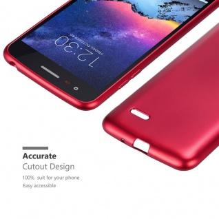 Cadorabo Hülle für LG K8 2017 in METALLIC ROT - Handyhülle aus flexiblem TPU Silikon - Silikonhülle Schutzhülle Ultra Slim Soft Back Cover Case Bumper - Vorschau 5