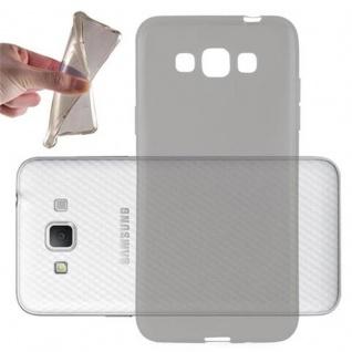 Cadorabo Hülle für Samsung Galaxy GRAND 3 in TRANSPARENT SCHWARZ - Handyhülle aus flexiblem TPU Silikon - Silikonhülle Schutzhülle Ultra Slim Soft Back Cover Case Bumper