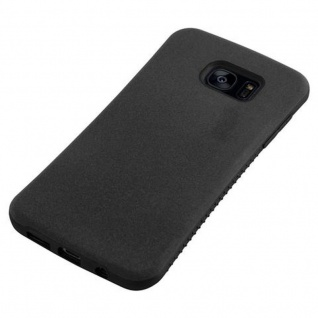 Cadorabo Hülle für Samsung Galaxy S7 EDGE - Hülle in MINERAL SCHWARZ ? Small Waist Handyhülle mit rutschfestem Gummi-Rücken - Hard Case TPU Silikon Schutzhülle - Vorschau 5