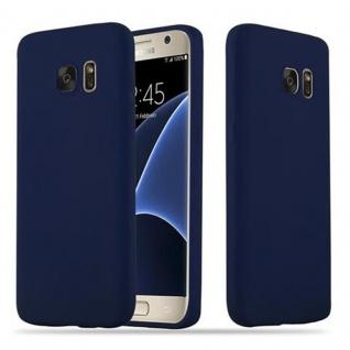 Cadorabo Hülle für Samsung Galaxy S7 in CANDY DUNKEL BLAU - Handyhülle aus flexiblem TPU Silikon - Silikonhülle Schutzhülle Ultra Slim Soft Back Cover Case Bumper