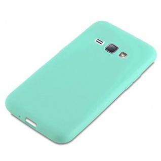 Cadorabo Hülle für Samsung Galaxy J1 2016 in CANDY BLAU - Handyhülle aus flexiblem TPU Silikon - Silikonhülle Schutzhülle Ultra Slim Soft Back Cover Case Bumper - Vorschau 4