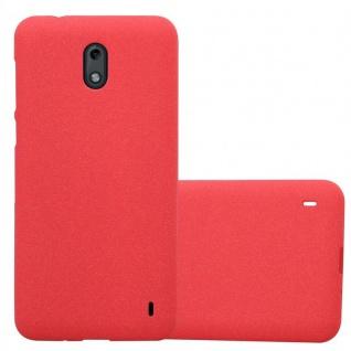 Cadorabo Hülle für Nokia 2 2017 in FROST ROT - Handyhülle aus flexiblem TPU Silikon - Silikonhülle Schutzhülle Ultra Slim Soft Back Cover Case Bumper