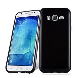 Cadorabo Hülle für Samsung Galaxy J3 2015 in SCHWARZ - Handyhülle aus flexiblem TPU Silikon - Silikonhülle Schutzhülle Ultra Slim Soft Back Cover Case Bumper