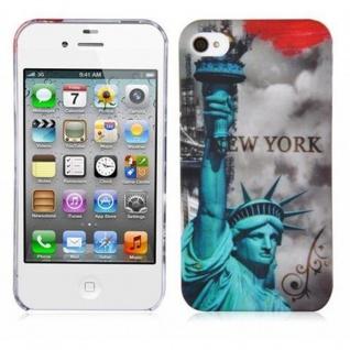Cadorabo - Hard Cover für Apple iPhone 4 / iPhone 4S - Case Cover Schutzhülle Bumper im Design: NEW YORK - FREIHEITSSTATUE