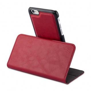Cadorabo Hülle für Apple iPhone 6 / iPhone 6S - Hülle in GRANATAPFEL ROT - Handyhülle im 2-in-1 Design mit Standfunktion und Kartenfach - Hard Case Book Etui Schutzhülle Tasche Cover - Vorschau 4