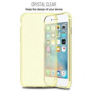 Cadorabo Hülle für Apple iPhone 7 / iPhone 7S / iPhone 8 in TRANSPARENT GOLD - Handyhülle aus flexiblem TPU Silikon - Silikonhülle Schutzhülle Ultra Slim Soft Back Cover Case Bumper - Vorschau 5