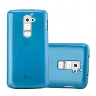 Cadorabo Hülle für LG G2 in TÜRKIS - Handyhülle aus flexiblem TPU Silikon - Silikonhülle Schutzhülle Ultra Slim Soft Back Cover Case Bumper