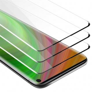Cadorabo 3x Vollbild Panzer Folie für Samsung Galaxy S10 - Schutzfolie in TRANSPARENT mit SCHWARZ - 3er Pack Gehärtetes (Tempered) Display-Schutzglas in 9H Härte mit 3D Touch