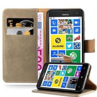 Cadorabo Hülle für Nokia Lumia 625 in CAPPUCINO BRAUN - Handyhülle mit Magnetverschluss, Standfunktion und Kartenfach - Case Cover Schutzhülle Etui Tasche Book Klapp Style