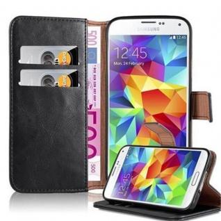 Cadorabo Hülle für Samsung Galaxy S5 / S5 NEO in GRAPHIT SCHWARZ ? Handyhülle mit Magnetverschluss, Standfunktion und Kartenfach ? Case Cover Schutzhülle Etui Tasche Book Klapp Style