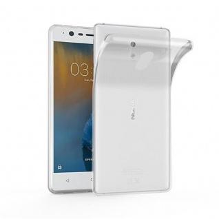 Cadorabo Hülle für Nokia 3 in VOLL TRANSPARENT - Handyhülle aus flexiblem TPU Silikon - Silikonhülle Schutzhülle Ultra Slim Soft Back Cover Case Bumper