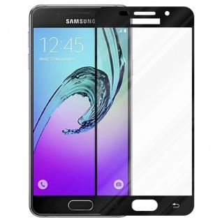 Cadorabo Vollbild Panzer Folie für Samsung Galaxy A5 2016 - Schutzfolie in TRANSPARENT mit SCHWARZ - Gehärtetes (Tempered) Display-Schutzglas in 9H Härte mit 3D Touch Kompatibilität - Vorschau 2