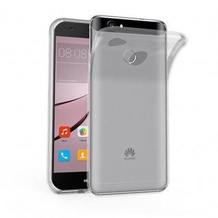 Cadorabo Hülle für Huawei NOVA in VOLL TRANSPARENT - Handyhülle aus flexiblem TPU Silikon - Silikonhülle Schutzhülle Ultra Slim Soft Back Cover Case Bumper