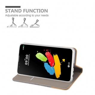 Cadorabo Hülle für LG STYLUS 2 in HELL GRAU BRAUN - Handyhülle mit Magnetverschluss, Standfunktion und Kartenfach - Case Cover Schutzhülle Etui Tasche Book Klapp Style - Vorschau 3