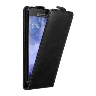 Cadorabo Hülle für HTC U ULTRA in NACHT SCHWARZ Handyhülle im Flip Design mit unsichtbarem Magnetverschluss Case Cover Schutzhülle Etui Tasche Book Klapp Style