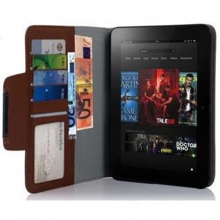 Cadorabo Hülle für Kindl Fire HD (7.0 Zoll) - Hülle in MARONEN BRAUN ? Schutzhülle mit Standfunktion und Kartenfach - Book Style Etui Bumper Case Cover