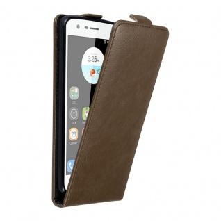 Cadorabo Hülle für ZTE BLADE V8 MINI in KAFFEE BRAUN - Handyhülle im Flip Design mit unsichtbarem Magnetverschluss - Case Cover Schutzhülle Etui Tasche Book Klapp Style