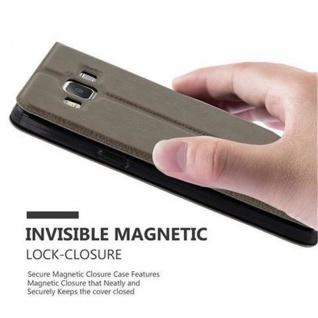 Cadorabo Hülle für Samsung Galaxy A5 2015 in STEIN BRAUN ? Handyhülle mit Magnetverschluss, Standfunktion und 2 Sichtfenstern ? Case Cover Schutzhülle Etui Tasche Book Klapp Style - Vorschau 5