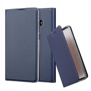 Cadorabo Hülle für Xiaomi Mi MIX 2 in CLASSY DUNKEL BLAU - Handyhülle mit Magnetverschluss, Standfunktion und Kartenfach - Case Cover Schutzhülle Etui Tasche Book Klapp Style