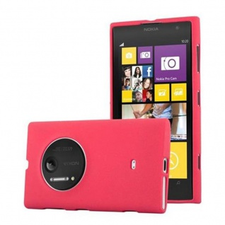 Cadorabo Hülle für Nokia Lumia 1020 in FROST ROT - Handyhülle aus flexiblem TPU Silikon - Silikonhülle Schutzhülle Ultra Slim Soft Back Cover Case Bumper
