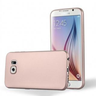 Cadorabo Hülle für Samsung Galaxy S6 in METALLIC ROSÉ GOLD - Handyhülle aus flexiblem TPU Silikon - Silikonhülle Schutzhülle Ultra Slim Soft Back Cover Case Bumper