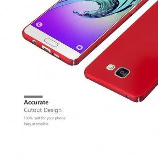 Cadorabo Hülle für Samsung Galaxy A5 2016 in METALL ROT - Hardcase Handyhülle aus Plastik gegen Kratzer und Stöße - Schutzhülle Bumper Ultra Slim Back Case Hard Cover - Vorschau 3