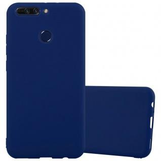 Cadorabo Hülle für Honor 8 PRO in CANDY DUNKEL BLAU - Handyhülle aus flexiblem TPU Silikon - Silikonhülle Schutzhülle Ultra Slim Soft Back Cover Case Bumper