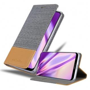Cadorabo Hülle kompatibel mit Nokia 5.3 in HELL GRAU BRAUN Handyhülle mit Magnetverschluss, Standfunktion und Kartenfach Case Cover Schutzhülle Etui Tasche Book Klapp Style