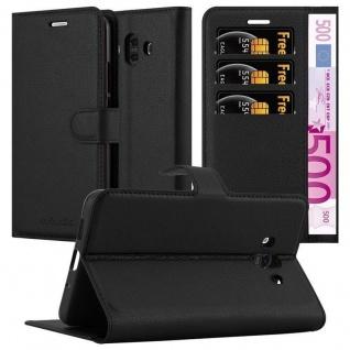 Cadorabo Hülle für Huawei MATE 10 in PHANTOM SCHWARZ - Handyhülle mit Magnetverschluss, Standfunktion und Kartenfach - Case Cover Schutzhülle Etui Tasche Book Klapp Style
