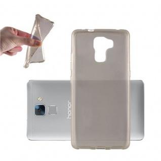 Cadorabo Hülle für Honor 7 in TRANSPARENT SCHWARZ - Handyhülle aus flexiblem TPU Silikon - Silikonhülle Schutzhülle Ultra Slim Soft Back Cover Case Bumper