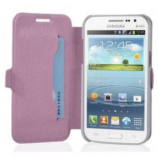 Cadorabo Hülle für Samsung Galaxy WIN - Hülle in ICY ROSE - Handyhülle mit Standfunktion und Kartenfach im Ultra Slim Design - Case Cover Schutzhülle Etui Tasche Book