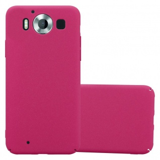 Cadorabo Hülle für Nokia Lumia 950 in FROSTY PINK - Hardcase Handyhülle aus Plastik gegen Kratzer und Stöße - Schutzhülle Bumper Ultra Slim Back Case Hard Cover