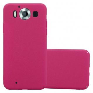 Cadorabo Hülle für Nokia Lumia 950 in FROSTY PINK Hardcase Handyhülle aus Plastik gegen Kratzer und Stöße Schutzhülle Bumper Ultra Slim Back Case Hard Cover