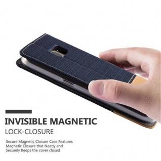 Cadorabo Hülle für Samsung Galaxy S7 in DUNKEL BLAU BRAUN - Handyhülle mit Magnetverschluss, Standfunktion und Kartenfach - Case Cover Schutzhülle Etui Tasche Book Klapp Style - Vorschau 4