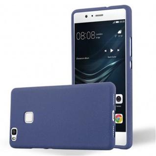 Cadorabo Hülle für Huawei P9 LITE in FROST DUNKEL BLAU - Handyhülle aus flexiblem TPU Silikon - Silikonhülle Schutzhülle Ultra Slim Soft Back Cover Case Bumper