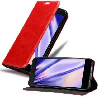 Cadorabo Hülle für Xiaomi RedMi 5A in APFEL ROT Handyhülle mit Magnetverschluss, Standfunktion und Kartenfach Case Cover Schutzhülle Etui Tasche Book Klapp Style