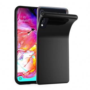 Cadorabo Hülle für Samsung Galaxy A70 in SCHWARZ - Handyhülle aus flexiblem TPU Silikon - Silikonhülle Schutzhülle Ultra Slim Soft Back Cover Case Bumper