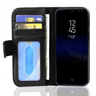 Cadorabo Hülle für Samsung Galaxy S8 PLUS in OXID SCHWARZ ? Handyhülle mit Magnetverschluss und 3 Kartenfächern ? Case Cover Schutzhülle Etui Tasche Book Klapp Style